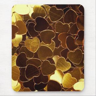 Golden Hearts Mousepad