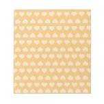 GOLDEN Hearts Pattern Scratch Pads
