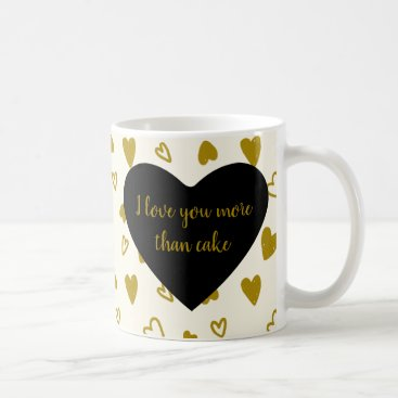 Professional Business Golden Hearts Valentine's Day Coffee Mug