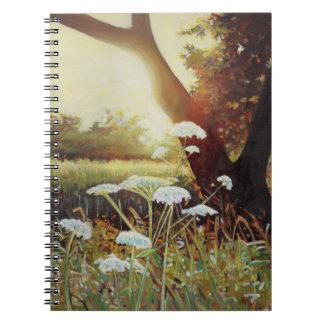 Golden hedgerow I 2014 Spiral Notebook