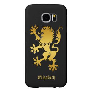 Golden Heraldic Lion Phone Case