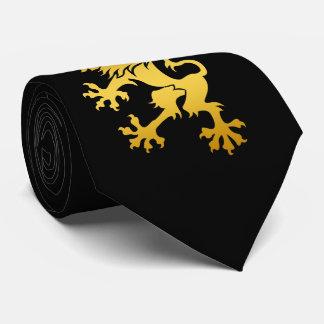 Golden Heraldic Lion Tie
