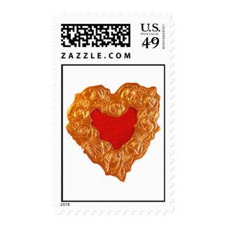 Golden Hert on white Postage Stamp