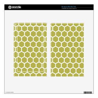 Golden Hexagon 2 Kindle Fire Decals