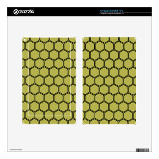 Golden Hexagon 3 Skin For Kindle Fire