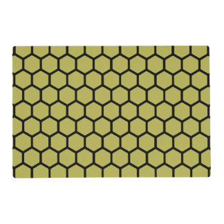 Golden Hexagon 4 Placemat