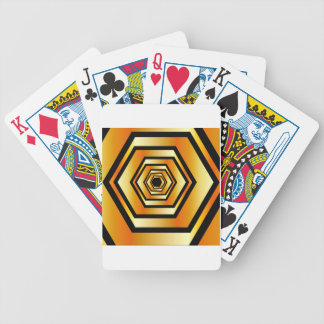 Golden hexagon bicycle playing cards