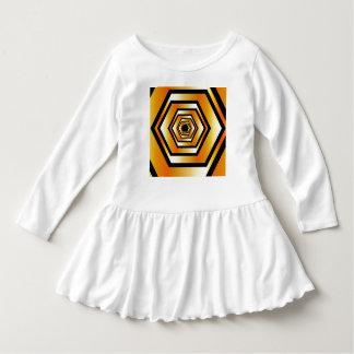 Golden hexagon dress