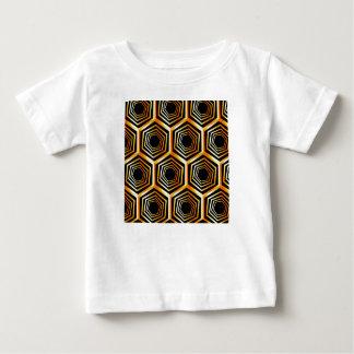 Golden hexagonal optical illusion baby T-Shirt