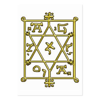 golden hexagram lamen large business card