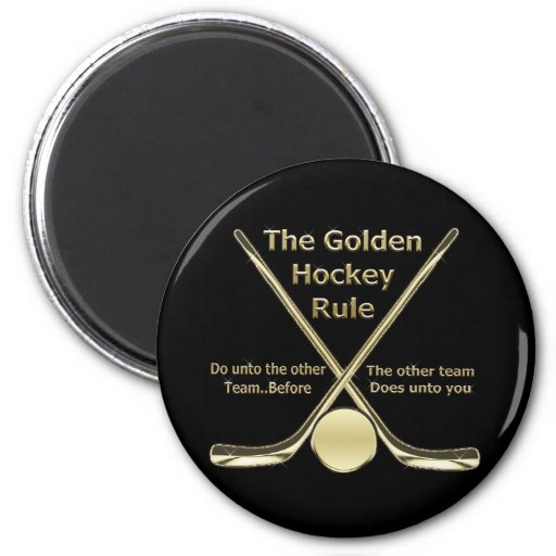 Golden Hockey Rule Magnet