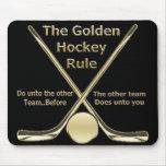 Golden Hockey Rule Mousepad