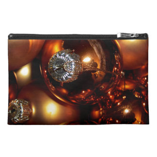 Golden Holiday Bulbs Travel Accessories Bag