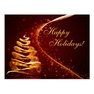 Golden Holiday Post Cards