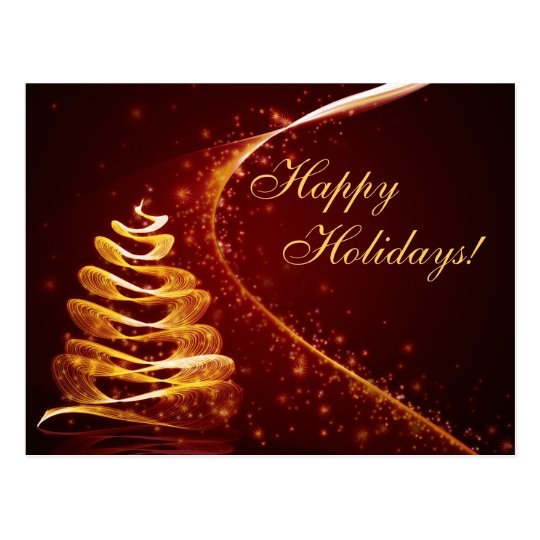 Golden Holiday Postcard