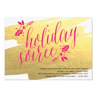 GOLDEN HOLIDAY SOIREE Holiday Party Invitation