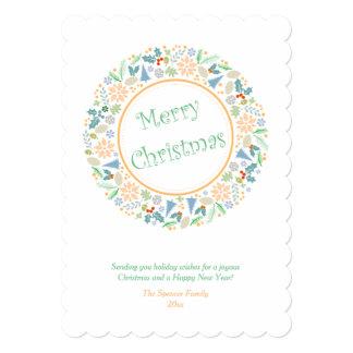 Golden Holiday Wreath Card