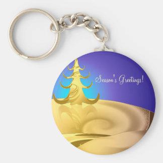 Golden Holidays Keychain