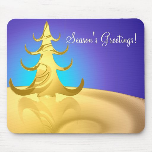 Golden Holidays Mouse Pad
