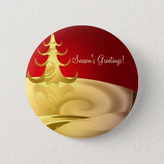 Golden Holidays Pinback Button