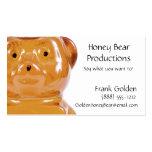 Golden Honey Bear Business Card