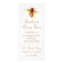 Golden Honey Bee Business Rack Card