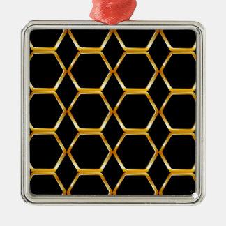 Golden honey cell background ornament