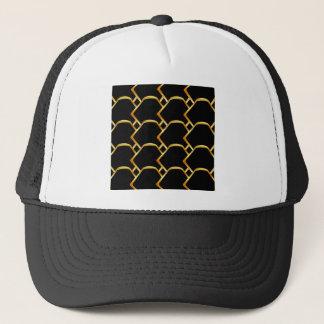 Golden honey cell background trucker hat
