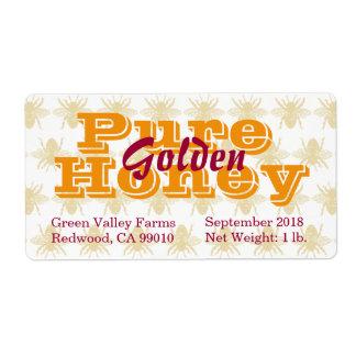 Golden Honey Jar Label