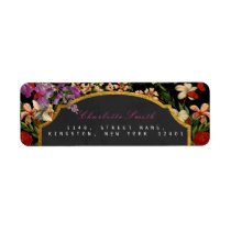 Golden Honeycomb Bee Vintage Return Address Labels