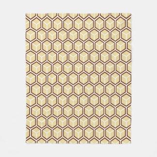 Golden Honeycomb Pattern Fleece Blanket