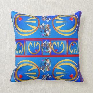 Golden Hoof 'n' Heart Throw Pillows