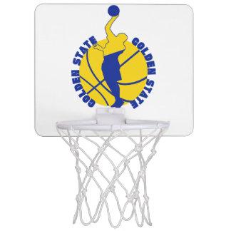 Golden hoop mini basketball hoops