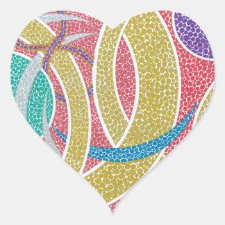 Golden hoops, Crescents... Heart Sticker