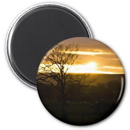 Golden Horizon 2 Inch Round Magnet