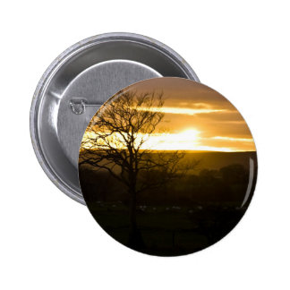 Golden Horizon 2 Inch Round Button