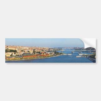 Golden Horn Istanbul Turkey From Pierre Loti Cafe Car Bumper Sticker