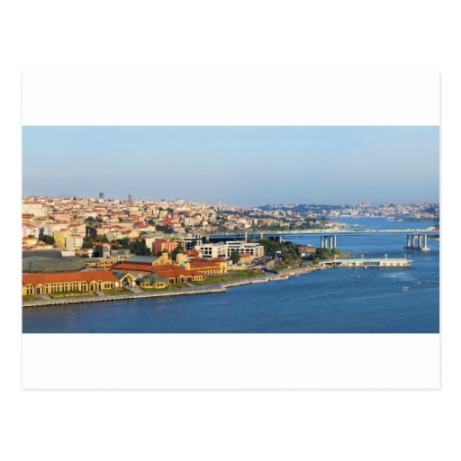 Golden Horn Istanbul Turkey From Pierre Loti Cafe Postcard