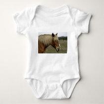 Golden horse baby bodysuit