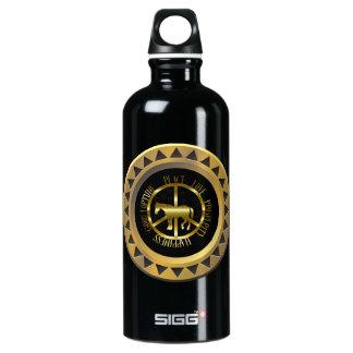 Golden Horse Of Peace Aluminum Water Bottle
