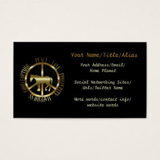 Golden Horse Of Peace Business Card