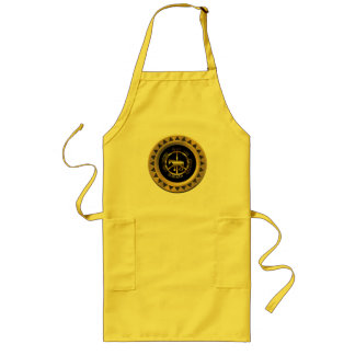 Golden Horse Of Peace Long Apron