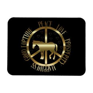 Golden Horse Of Peace Vinyl Magnet