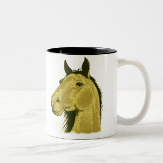 Golden Horse Two-Tone Coffee Mug