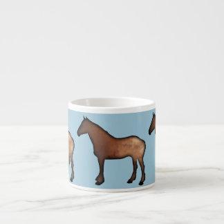 Golden Horses ceramic espresso mug