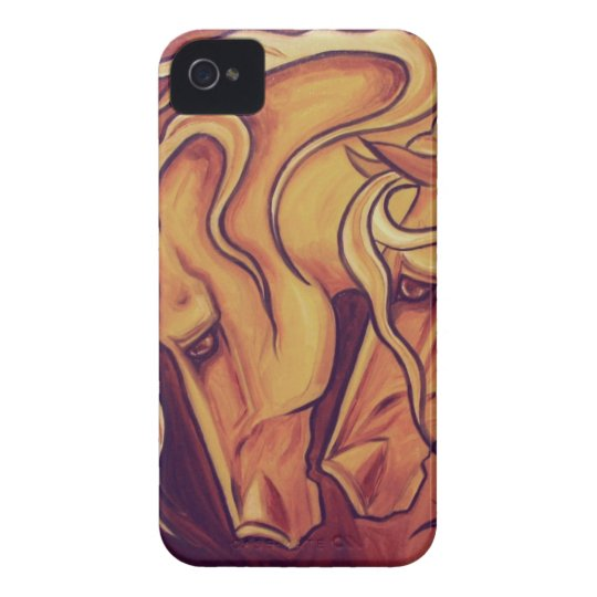 Golden Horses II iPhone 4 Case-Mate Case