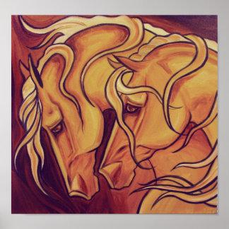 Golden Horses Print