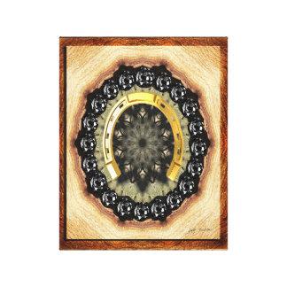 Golden Horseshoe Black Diamond Wrapped Canvas