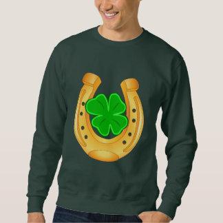 Golden Horseshoe Lucky Four Leafed Clover Shirt
