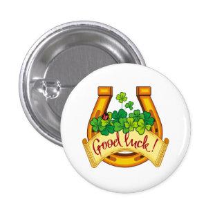 Golden horseshoe pinback button